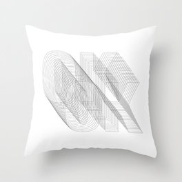 O K Throw Pillow