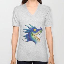 Dragon Blue Unisex V-Neck