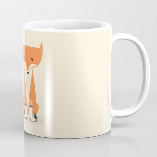 A Fox With Socks Mug