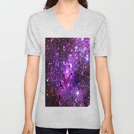 Purple Galaxy Eagle Nebula Unisex V-Neck