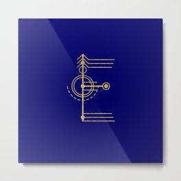 Sacred Geometry Letter E Metal Print