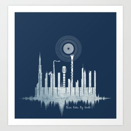 Music Rules My World Art Print
