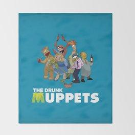 Drunk Muppets Throw Blanket