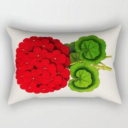 Vintage Scientific Floral Illustration Large Red Flowers Cranesbill Geranium Rectangular Pillow