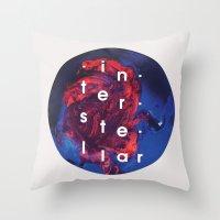 interstellar Throw Pillows featuring Interstellar by Sophie Cseve