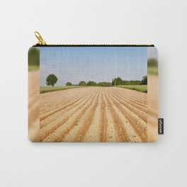 Ploughed agriculture field empty Carry-All Pouch