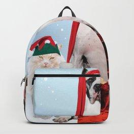 Holiday Christmas Merry Christmas Dog Cat Gift San Backpack