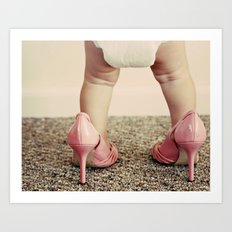 Chubs in Heels Art Print