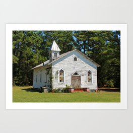 Reaves Chapel Art Print