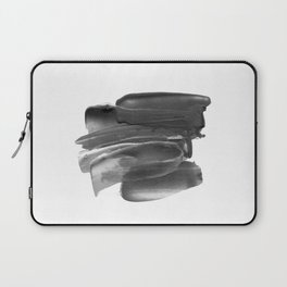 Lipstick Smudge black and white abstract painting poster design home wall art bedroom decor Laptop Sleeve