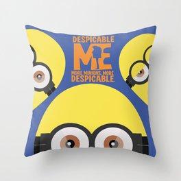 Gru, 3D animated movie poster, cartoon, children, minimalist playbill, Steve Carell Throw Pillow