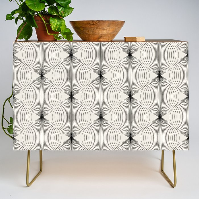 Geometric_Orb_Pattern__Black_Credenza_by_colour_poems__Gold__Walnut