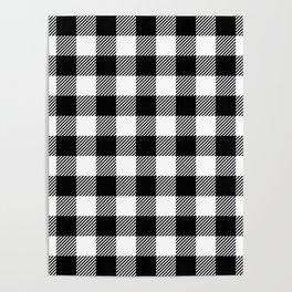 Buffalo Plaid - Black and White Poster