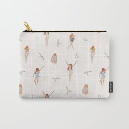 GIRLS ON THE BEACH PATTERN Carry-All Pouch