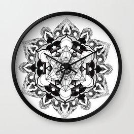 sacred geometry mandala dotwork Wall Clock