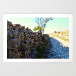 Road to the old Bosnian village of Lukomir Art Print
