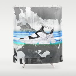 shoes on your sh*rt Shower Curtain