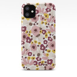 Boho Floral Vibes iPhone Case