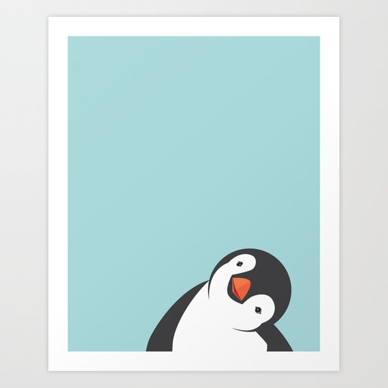 Penguin Art Print by ria093 Society6