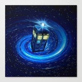 Tardis Blue Vortex Canvas Print