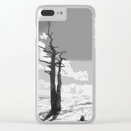 """""""Alone on Sandia"""" Clear iPhone Case"""