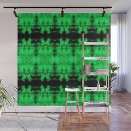 Green Black Diamond Gothic Pattern Wall Mural