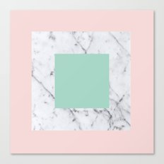 Marble with Pastels /// www.pencilmeinstationery.com Canvas Print