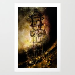 Lonely Lighthouse Art Print