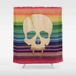 Rainbow Skull Shower Curtain