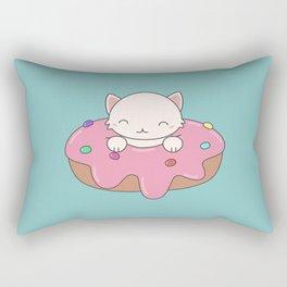 Kawaii Cute Cat Donut Rectangular Pillow