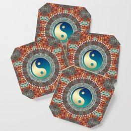 Bohemian Batik Yin Yang Coaster