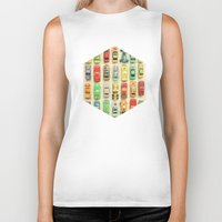 retro Biker Tanks featuring Car Park by Cassia Beck