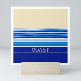 Sapphire Coast - Simple Nature Design Mini Art Print