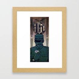 Hugo - The Station Inspector Framed Art Print