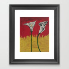 Sunshine Daffodils Handpainted  Framed Art Print