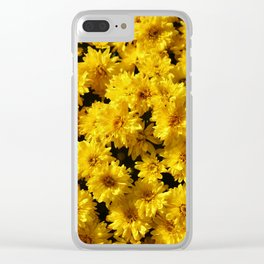 Golden Mums Clear iPhone Case