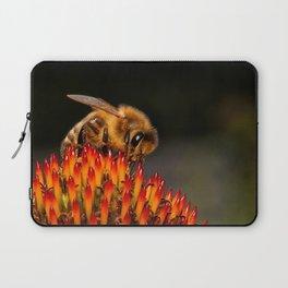 Honeybee on the Echinacea Laptop Sleeve