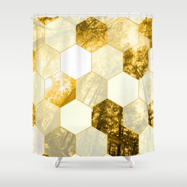 Geometric Forest in Golds Shower Curtain