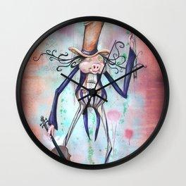 Piggy Fiddler Wall Clock