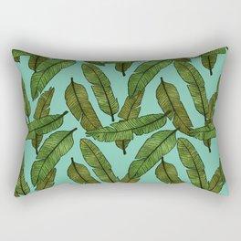 Banana Leaf - Aqua Rectangular Pillow