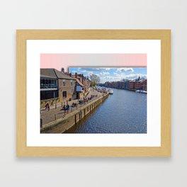 Kings Staith, York, river Ouse. Framed Art Print