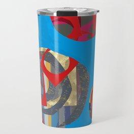 Blue & Spikes Color Explosion Travel Mug