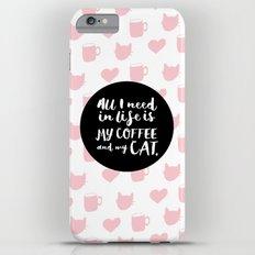 Coffee & Cats  Slim Case iPhone 6 Plus