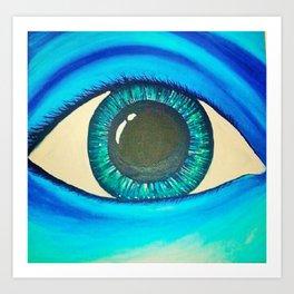 Luna Eye Art Print