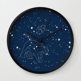 Polar Bear and Constellation Arctic Night Sky Stars Wall Clock