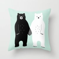 gray Throw Pillows featuring Gray by Andy Westface