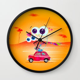 Garden Snail Road Trip Wall Clock