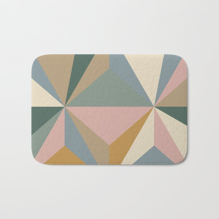 Pastel Triangles Bath Mat