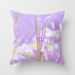 Gladness breathes from the blossoming ground. Throw Pillow
