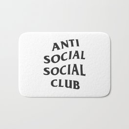 Anti social social club new 2018 style Bath Mat
